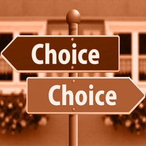 Choices Signs in sepia